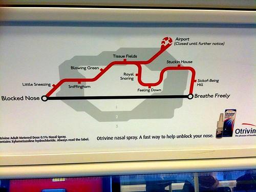Otrivine advert on tube
