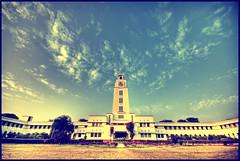 BITS Pilani (Prabhu B Doss) Tags: india tower clock nikon university sigma wideangle 1020 bits rajasthan birla insti pilani d80 prabhub prabhubdoss zerommphotography 0mmphotography