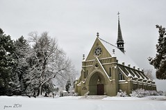 Chapel In Snow (pam's pics-) Tags: winter snow cemetery colorado quiet snowy earlymorning peaceful denver co fairmount pammorris fairmountcemetery nikond5000 denverpam