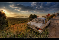 288/365 - HDR - Crete - ScrapSunset.@.1250x800 (Pawel Tomaszewicz) Tags: camera new old light sunset shadow summer sky holiday colors car clouds photoshop canon island greek photography eos photo europe foto view angle wide creative kreta wideangle ps greece crete fotografia scrap hdr hdri aparat pawel wakacje cs3  kriti  chmury lato 3xp grecja photomatix   greatphotographers wyspa  podr wyspy eos400d 1200x800 fotografowie polscy allxpressus  tomaszewicz paweltomaszewicz