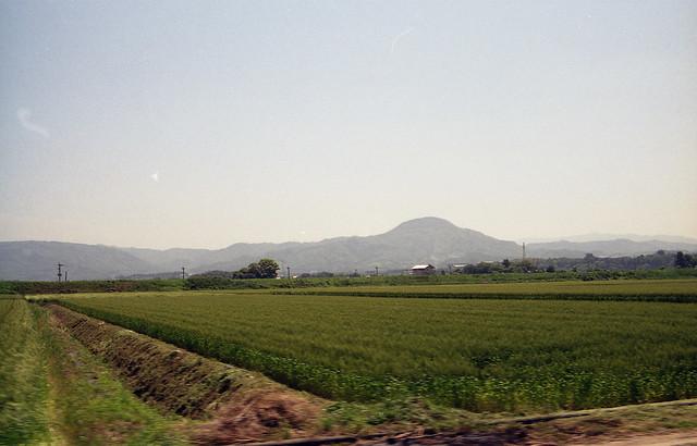 田舎の風景のフリー写真素材