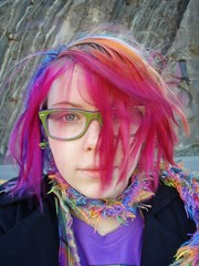 It was REALLY WINDY (Megan is me...) Tags: blue red portrait orange lake color green colors smile fashion rose yellow self hair effects photography one diy clothing crazy rainbow eyes colorful neon pretty colours russell bright unique awesome meg violet plum megan style nuclear special clothes kind fishbowl iguana jerome colored mayhem punky striped bleached dyed napalm sfx berryessa rosered megface meganisme bleachednapalmorange