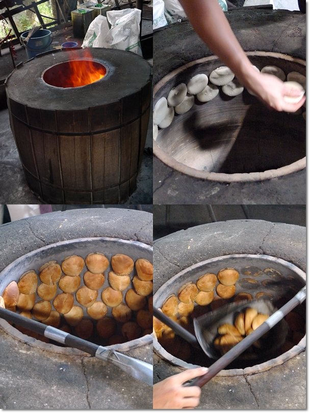 Process of Baking the Heong Peng