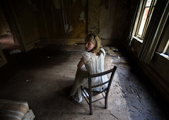 Winter :: (andre govia.) Tags: white building abandoned girl strange buildings hospital photo back chair closed looking dress photos decay ghost andre haunted creepy explore blond trespass horror around ghosts sanatorium left explorers decaying ue hospitals asylums govia bext andregovia