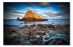 Sugarloaf Rock (ii), Leeuwin-Naturaliste National Park,  Western Australia (Matthew Stewart | Photographer) Tags: ocean sea cloud water rock sunrise rocks deadtree westernaustralia sugarloafrock