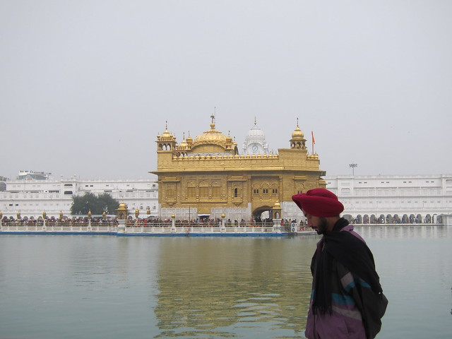 Pensive Sikh at the Golden Temple