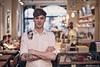 Ben Drury — Barista (Rick Nunn) Tags: wood light portrait people music male london coffee shop tattoo bulb bar dof counter natural notes tables coventgarden tones ef50mmf14usm vsortpop