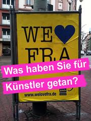 We love FRA - Plakat der Julis FDP digital überarbeitet