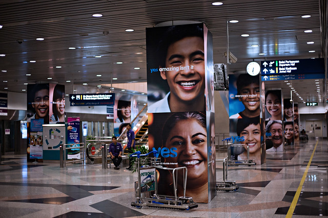 Yes Campaign Ad in Kuala Lumpur International Airport