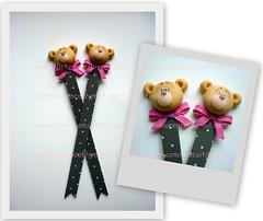 Ursinhas Marrom & Rosa (Biscuit da Pati) Tags: eva marcadores rosa biscuit livro aniversário ursa maternidade marrom laço marcador lembrancinha emborrachado ursinha