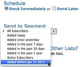 List Segmentation