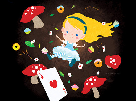 Alice Falls Down the Rabbit Hole by wedgienet.net