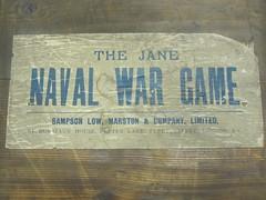 2011-33 -1 Naval War Game. Jane. Label