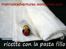 concorso ricette con la pasta fillo