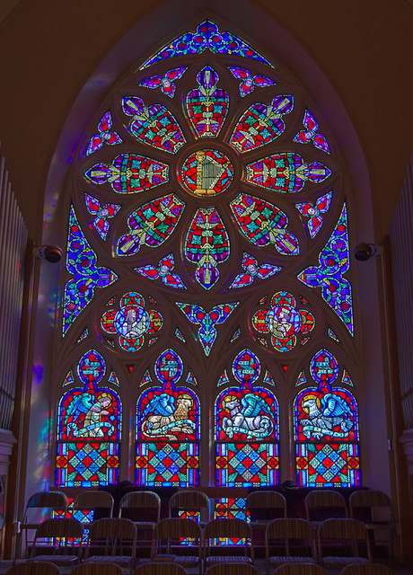Saint Mary Roman Catholic Church, in Alton, Illinois, USA - rose window
