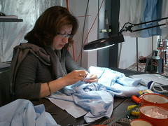 Nadia Chabane - Artisan chemise/custom shirt specialist. Hermes Festival of Crafts, February 23-28, 2011 | Bellevue.com