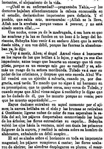 Leyenda de La Peña del Moro publicada en La Amérca por Eugenio de Olavarria y Huarte. Página 15