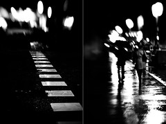 Nocturno madrileo #3 Caminantes (bogob.photography) Tags: madrid light blur luz lensbaby bokeh nocturne nocturno caminantes nikond80