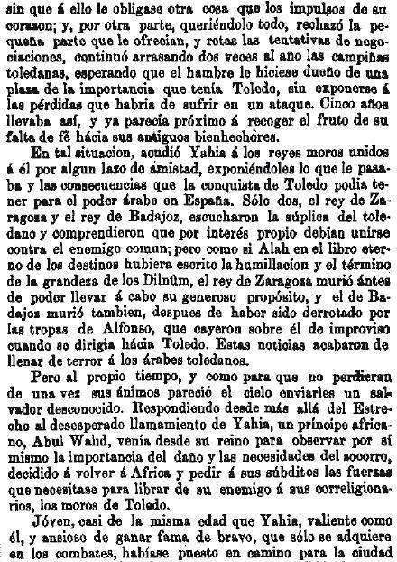Leyenda de La Peña del Moro publicada en La Amérca por Eugenio de Olavarria y Huarte. Página 6