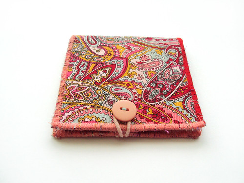 Mint on Red and Light Pink Paisley small Wallet