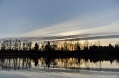 Silky Blue Sunset (JSB PHOTOGRAPHS) Tags: park blue sunset sky pond nikon baker d2x smooth alton silky autzen silklike