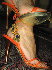 Sara's jewels (al_garcia) Tags: feet high shoes long sandals heels smelly toenails veiny calloused