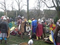 Jorvik festival (rubber rat productions) Tags: york england spears yorkshire battle vikings swords reenactment northyorkshire jorvik shields helmets axes anglosaxons regiaanglorum jorvikfesival