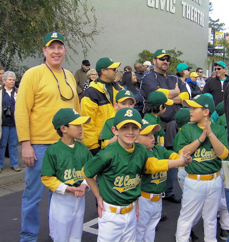 The Seals, an El Cerrito Youth Baseball team in the Pinto Division (open to boys and girls ages 7-8) were excited about a new season at opening day ceremonies on Feb. 26, 2011.