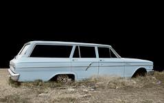 1964 Ford Fairlane Station Wagon (Curtis Gregory Perry) Tags: auto blue black ford abandoned car station dark wagon nikon automobile estate background nevada mobil shooting brake motor fairlane automvil xe d300 automobil     samochd  kotse  otomobil   hi   bifrei  automobili   gluaisten