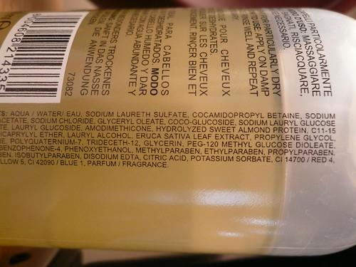 shampoo ingredients
