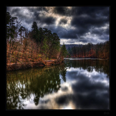 Imagine.... (Kemoauc) Tags: sky cloud lake tree forest photoshop see nikon solitude himmel wald baum hdr topaz d90 photomatix nikond90 hdrterrorist kemoauc