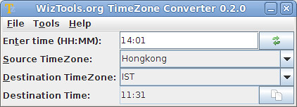 WizTools.org Timezone Converter 0.2.0
