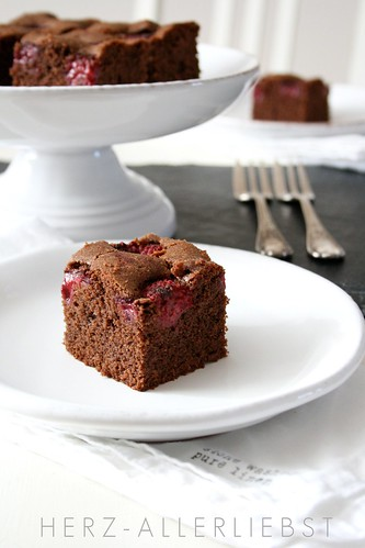 Schoko-Himbeer-Brownies
