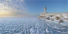 Frozen World (Sandra OTR) Tags: winter sea lighthouse white snow cold ice germany frozen baltic rgen eis leuchtturm sassnitz gefroren gettyimagesgermanyq1