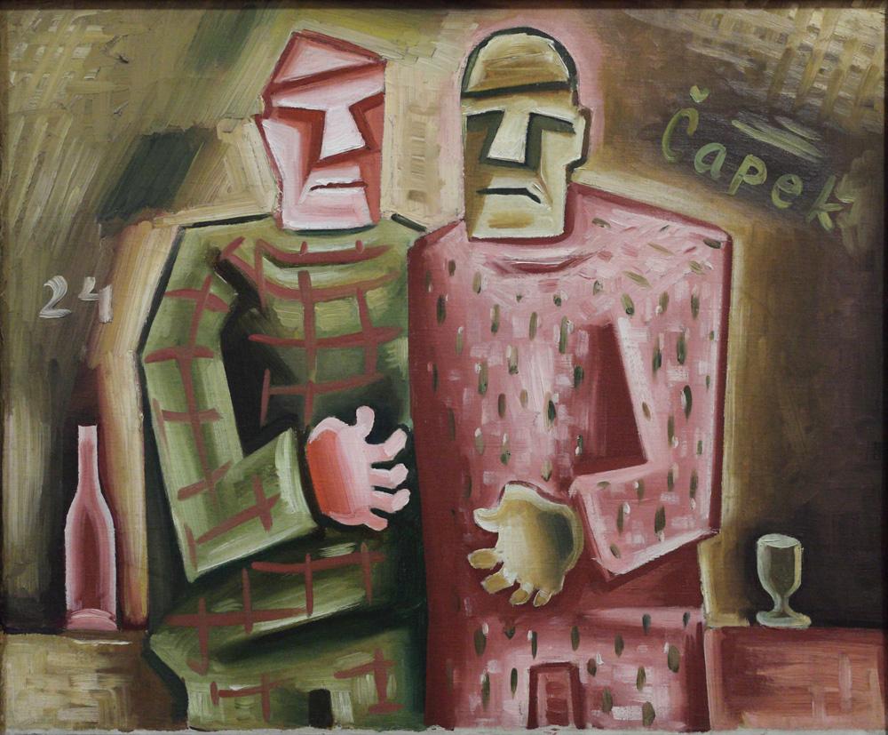 Josef Čapek, Dva přátelé [Two friends], 1924