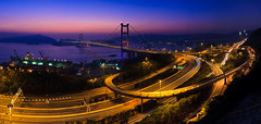 Magic Hour@Tsing Ma Bridge (Ali Tse) Tags: bridge panorama night landscape hongkong pano  magichour tsingmabridge   tsingyanshan