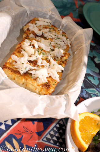 GARLIC BREAD WITH DUNGENESS CRAB YOU HEARD ME.