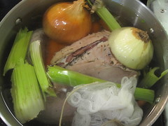 Boiling beef tongue for corned beef