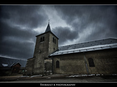 Day 33/365 (Thibault B Photography) Tags: rain pluie church eglise village town nuage cloud sky ciel hdr photomatix hdrefexpro niksoftware nikon nikond300s d300s photoshop aperture tripod trepied manfrotto manfrotto190xprob view vue raw grenoble isre france macro macrophotographie macrophotography nikkor60mm 60mm micro strobist flash nikonsb900 sb900 softbox light lumire studio cactus kf36 vivitar white blanc background focus dof pdc map bokeh brother frere umbrella black noir blackandwhite jack ripper ikea fond portrait