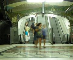 Murals, unnoticed. (penelope_134) Tags: argentina buenosaires metro subte
