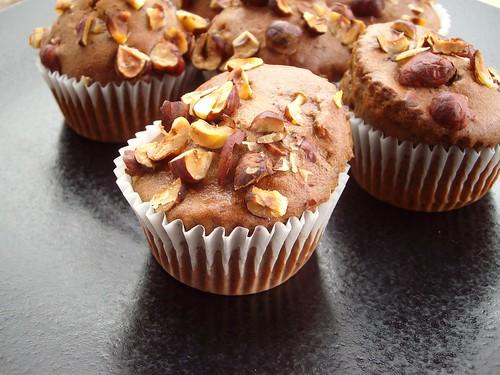 Gluten Free Cacao Hazelnut Muffins