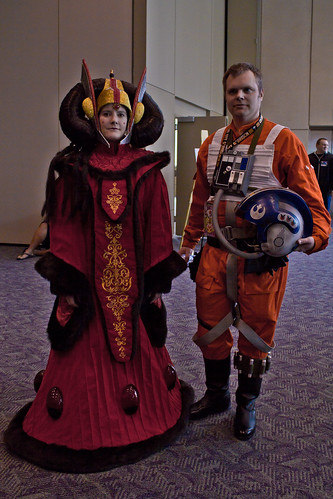 Amidala and X-Wing pilot
