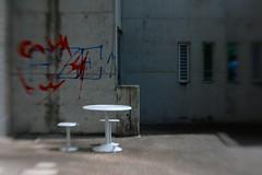 Powerhouse seating (Natashatashtash) Tags: lensbaby canon brisbane powerhouse brisbanemeetup eos30d lensbabycomposer