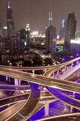 shanghai lights (alexander reneby lithman) Tags: china road longexposure urban skyline night lights highway neon skyscrapers purple shanghai traffic  elevated  peoplessquare