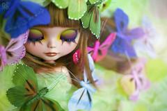 Spring in Paris (erregiro) Tags: butterfly ginger carved eyes doll eyelashes butterflies makeup lips girona blythe rafael mold custom mariposas sbl mueca reroot erregiro primadolly