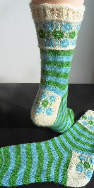 Winter Garden socks-5