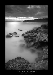"""Reward"" - La Perouse (Luke Peterson Photography) Tags: ocean sunset bw cliff reflection water clouds dangerous rocks long exposure horizon stop edge ten smokey nd1000"