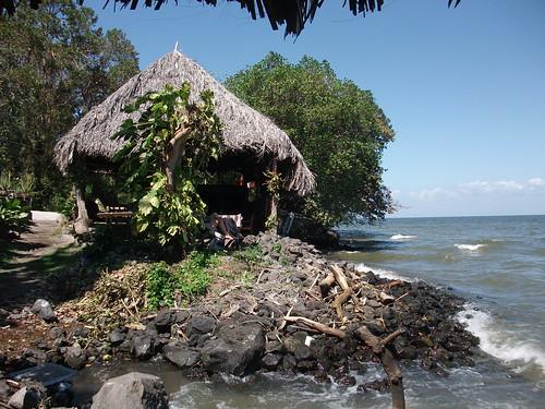 Beaches underwater at Isla de Ometepe, Nicaragua