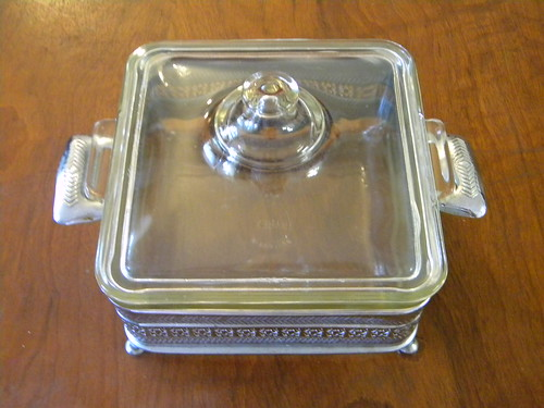 Square Casserole with Cradle - *For Trade*