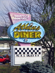 Athens diner neon sign - Athens, TN